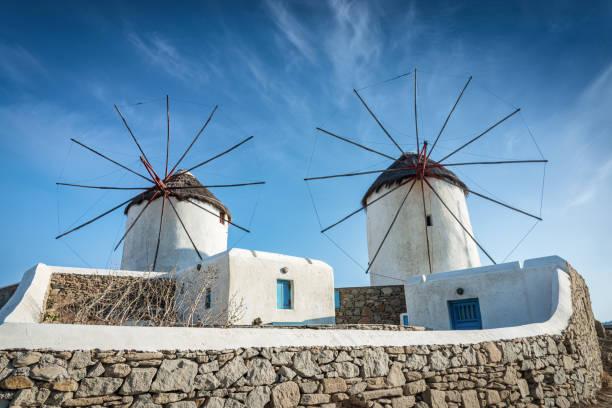 Mykonos Windmills Chora Alefkandra Greece