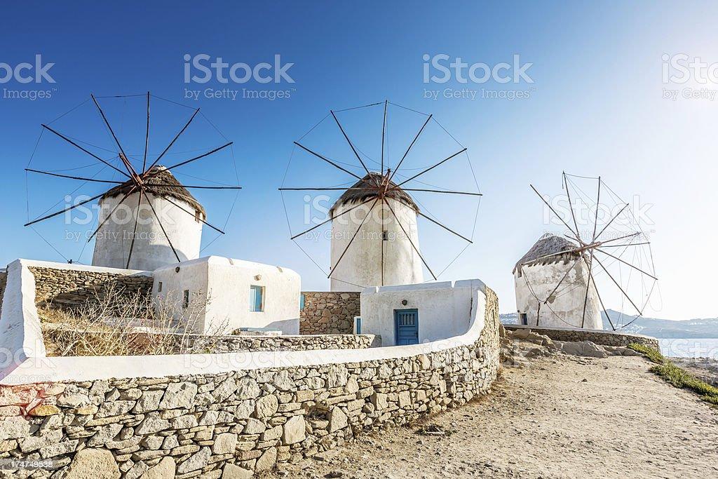 Windmühlen in Mykonos, Griechenland – Foto