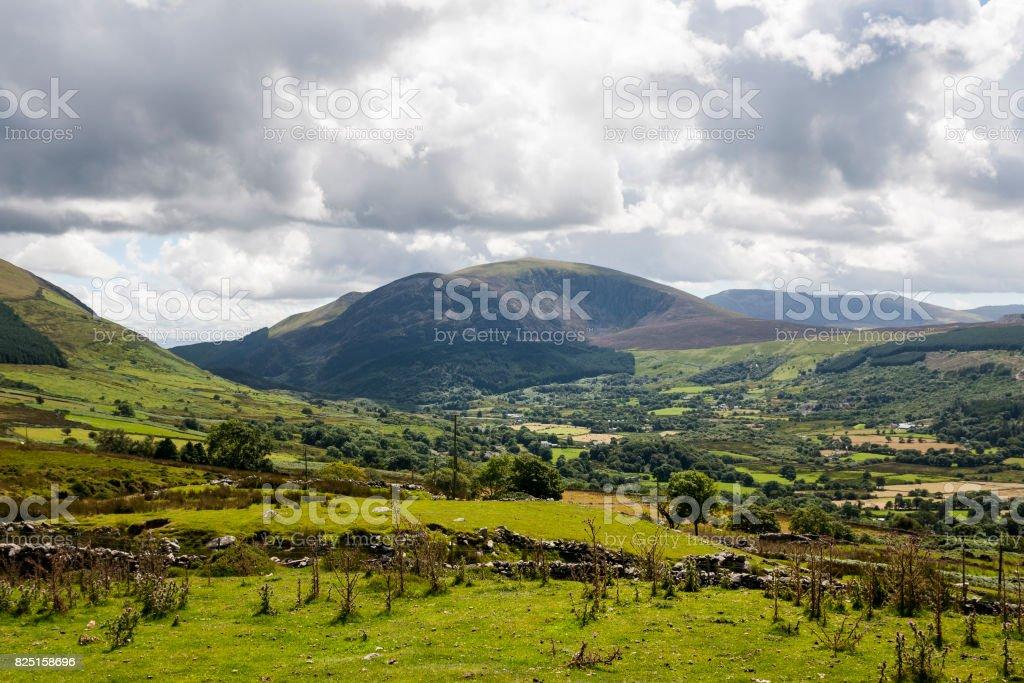 Mynydd Mawr mountain near Caernarfon in Snowdonia, North Wales, UK stock photo