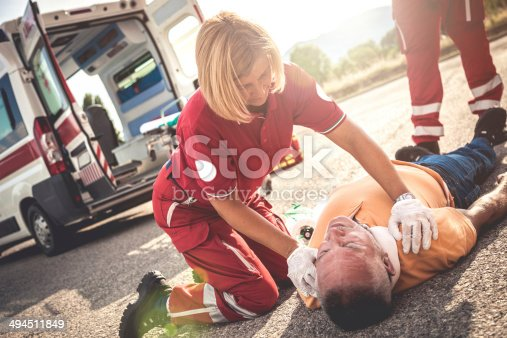 istock Myocardial attack on the street 494511849