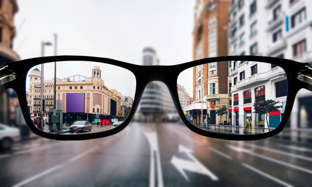 myopia in madrid - lens eye stock pictures, royalty-free photos & images