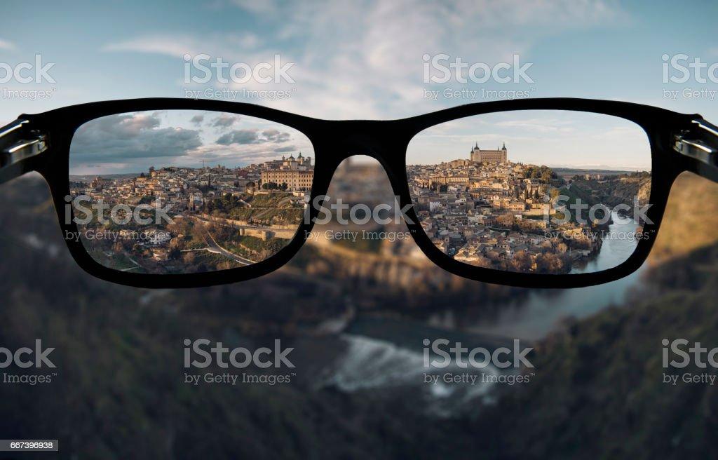 Myopia stock photo