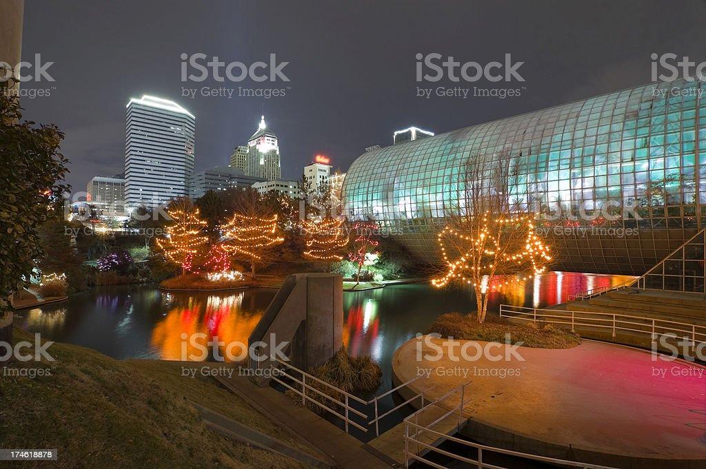 Myriad Gardens and Oklahoma City royalty-free stock photo