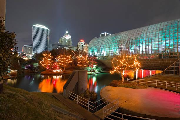 Myriad Gardens and Oklahoma City stock photo