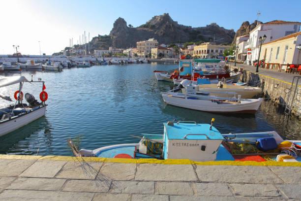 Myrina harbor, Limnos island, Greece – zdjęcie