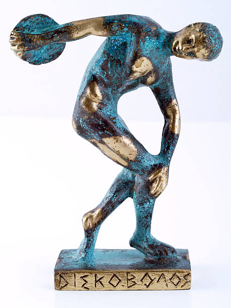 Myron's Discobolos  fine art statue stock pictures, royalty-free photos & images