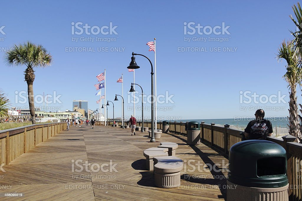 Myrtle Beach Boardwalk Beautification Completion stock photo