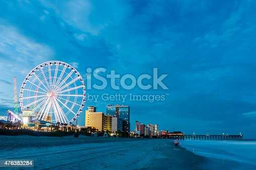 On the beach in Myrtle Beach, South Carolina, USA.