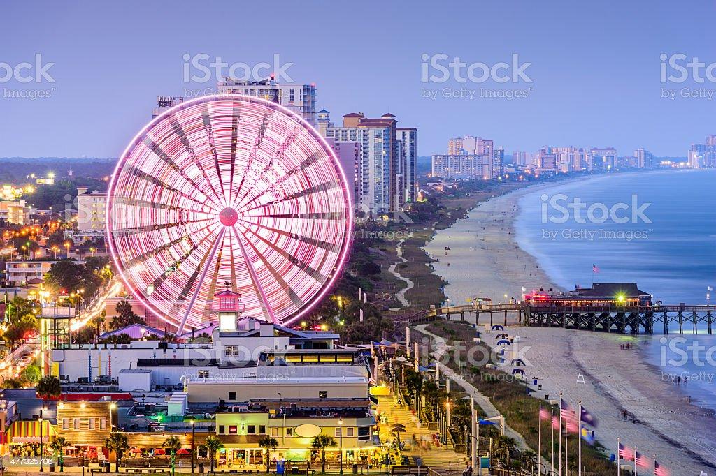 Myrtle Beach Skyline Myrtle Beach, South Carolina, USA city skyline. 2015 Stock Photo