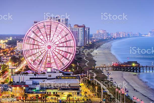 Myrtle Beach Skyline Stock Photo - Download Image Now