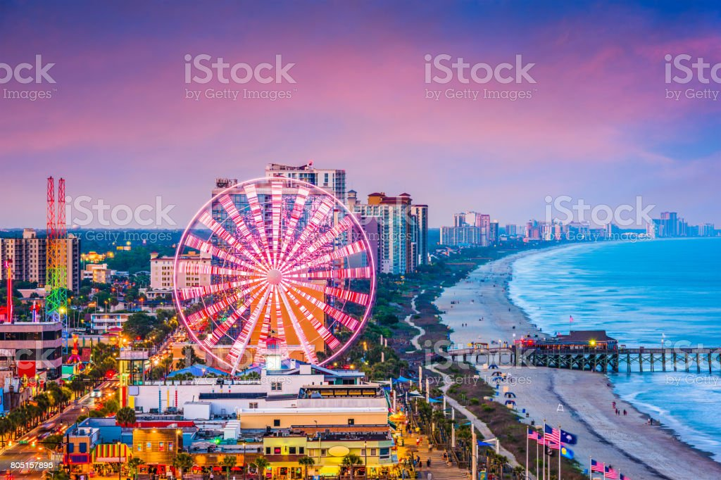 Myrtle Beach, South Carolina, USA Skyline stock photo
