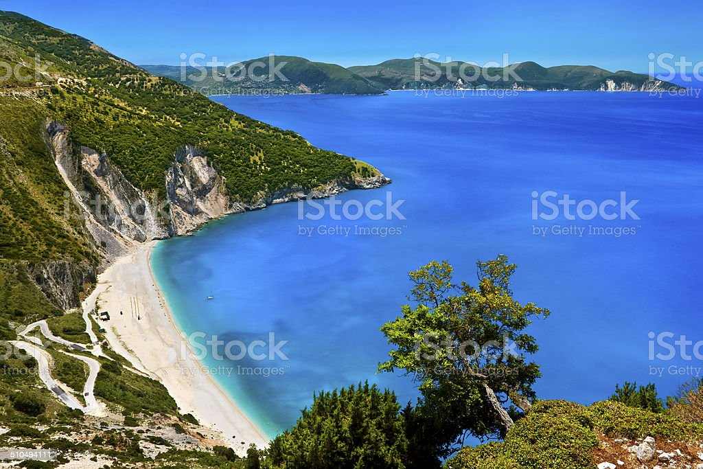 Myrtos Beach, Cephalonia stock photo