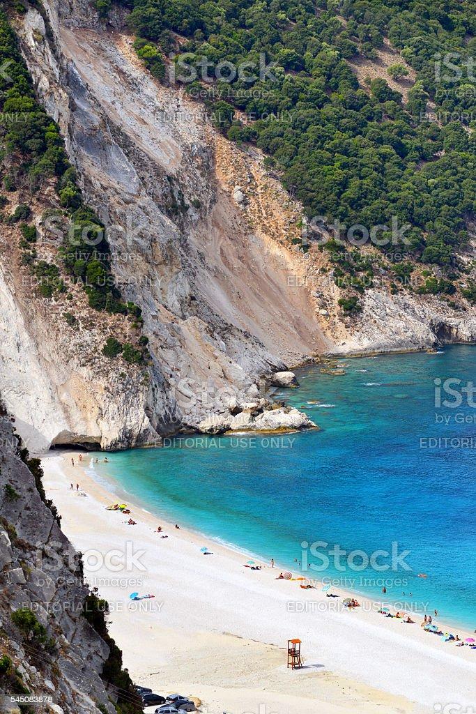 Myrtos beach, Greece stock photo