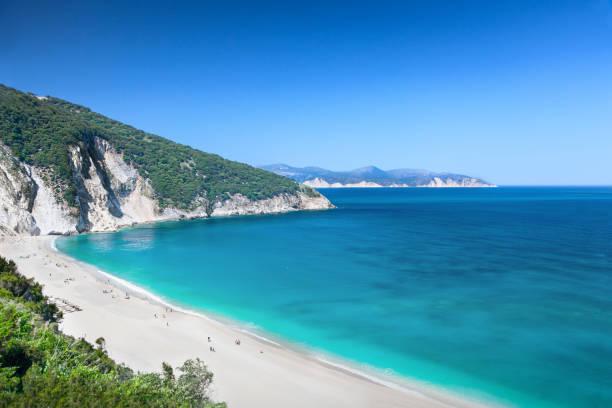 Myrtos beach, Kefalonia, Greece stock photo