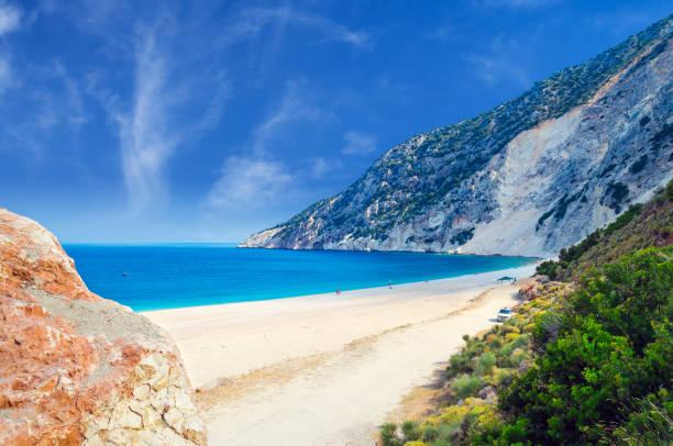 Myrtos Strand, Insel Kefalonia, Griechenland – Foto