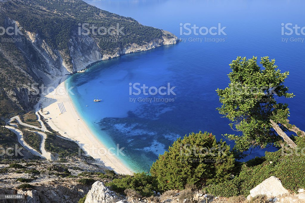 Myrtos Beach Kefalonia stock photo