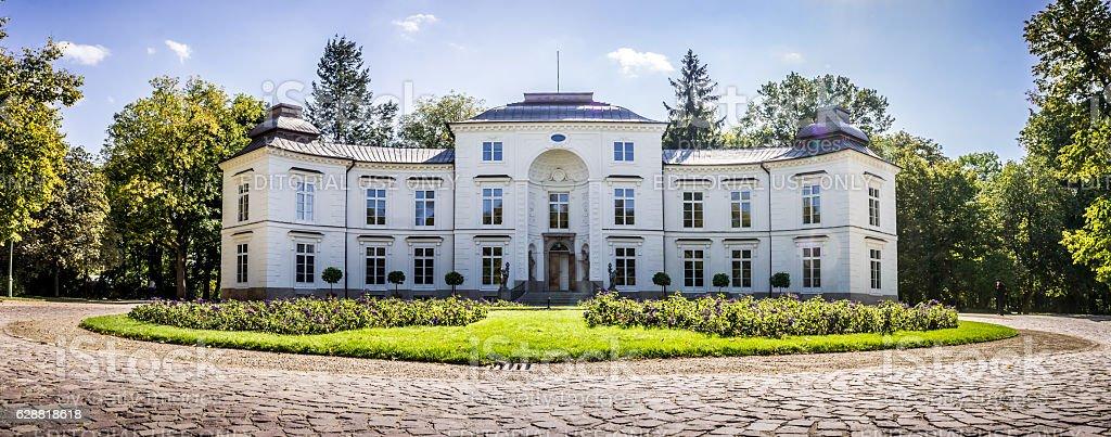 Myslewicki Palace, Lazienki Park in Warsaw, Poland stock photo