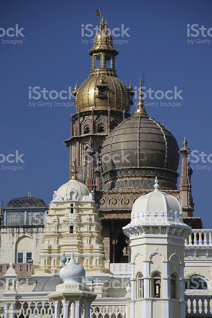 Mysore Maharajah's palace royalty-free stock photo