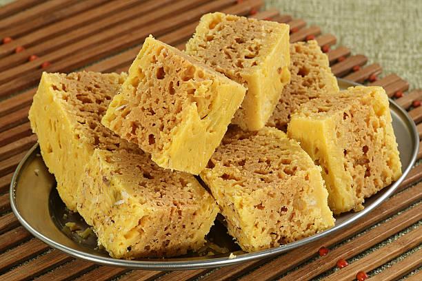 mysore pak stock photo