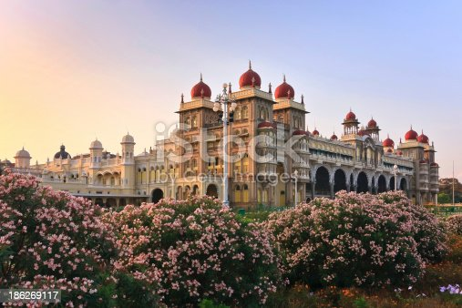 The famous Mysore Palace , Mysore , India