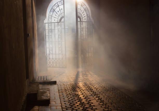 mystérieuse arche - gothique photos et images de collection