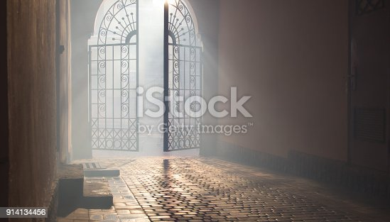 914134406 istock photo mysterious arch 914134456
