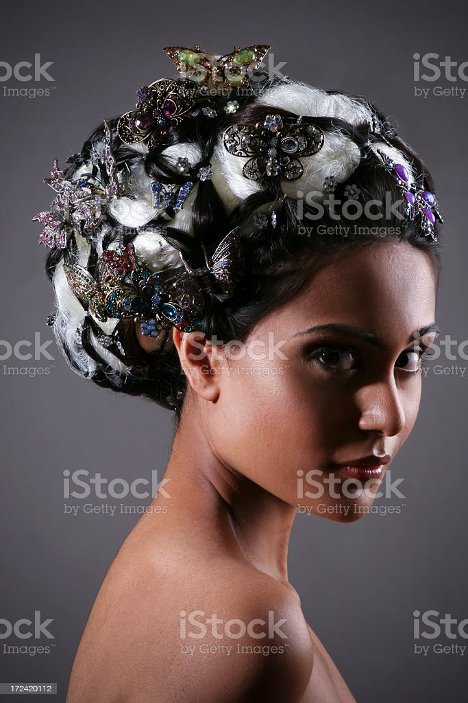 Mysterious Beauty royalty-free stock photo