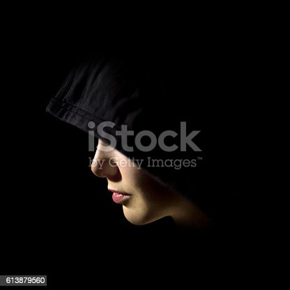 Mysterious beauty woman