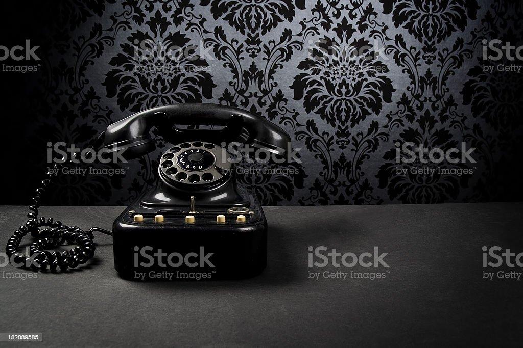 Mysterious black telephone royalty-free stock photo