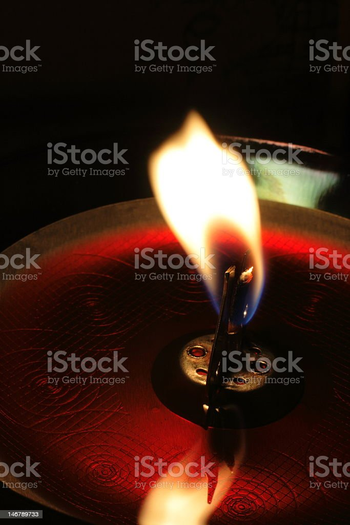 Mysterious candle royalty-free stock photo