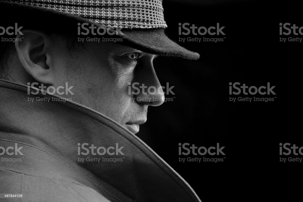 Mysterious detective stock photo
