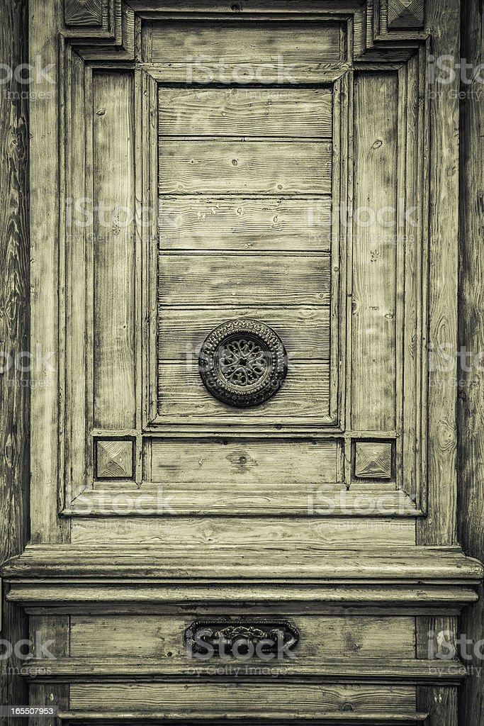 Mysterious door royalty-free stock photo