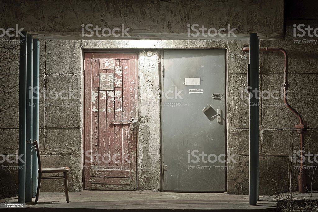 Mysterious door royalty-free stock photo