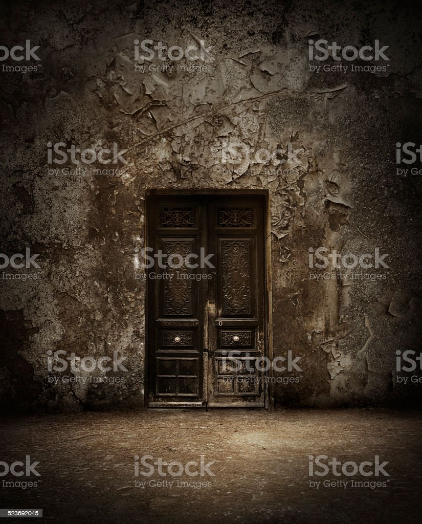 Mysterious door stock photo & Royalty Free Scary Door Pictures Images and Stock Photos - iStock