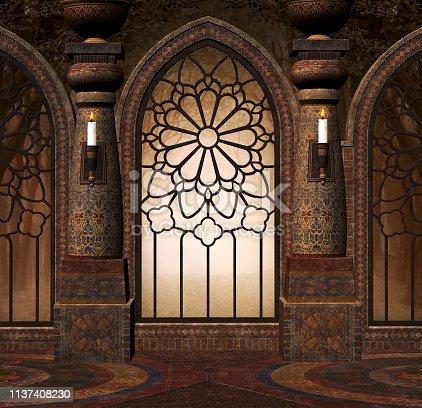 914134406 istock photo Mysterious doorway inside the old elegant building 1137408230