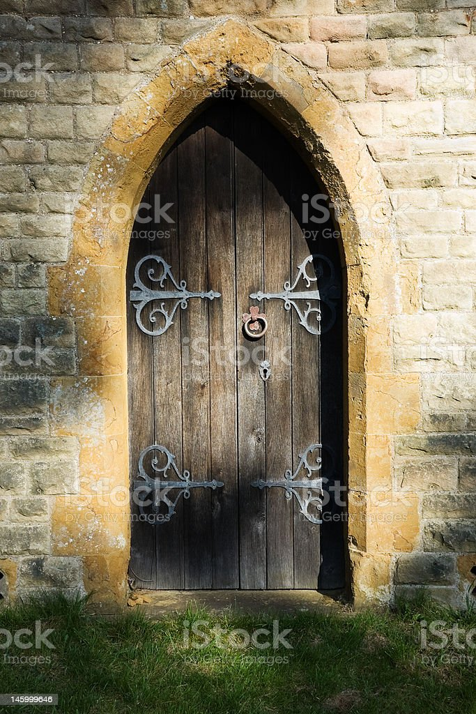 Mysterious doorway stock photo