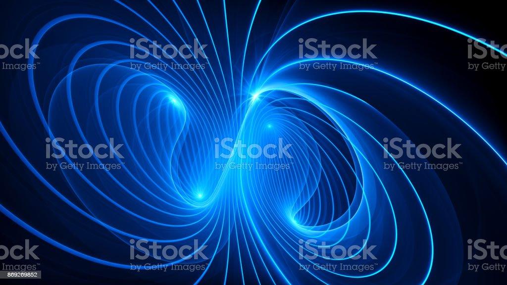 Geheimnisvolle elektromagnetische Feld Hintergrund - Lizenzfrei Abstrakt Stock-Foto