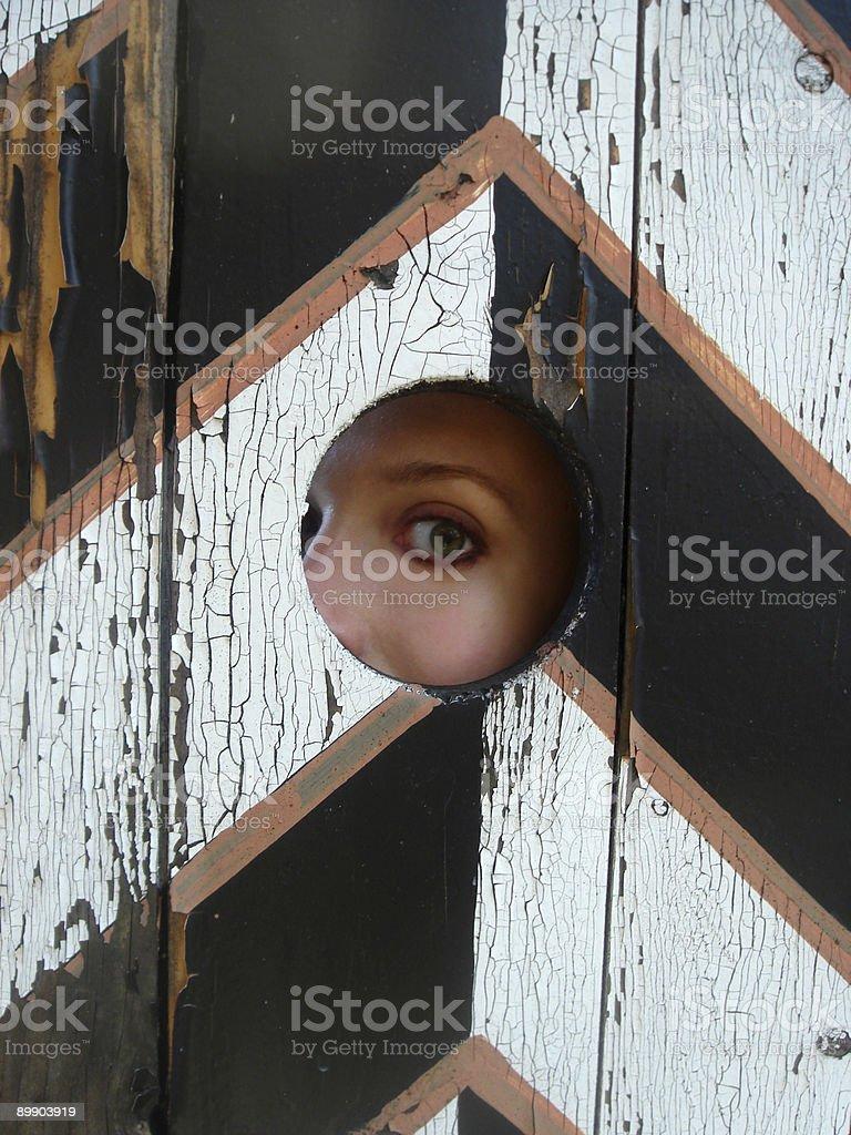 Mysterious eye. royalty-free stock photo