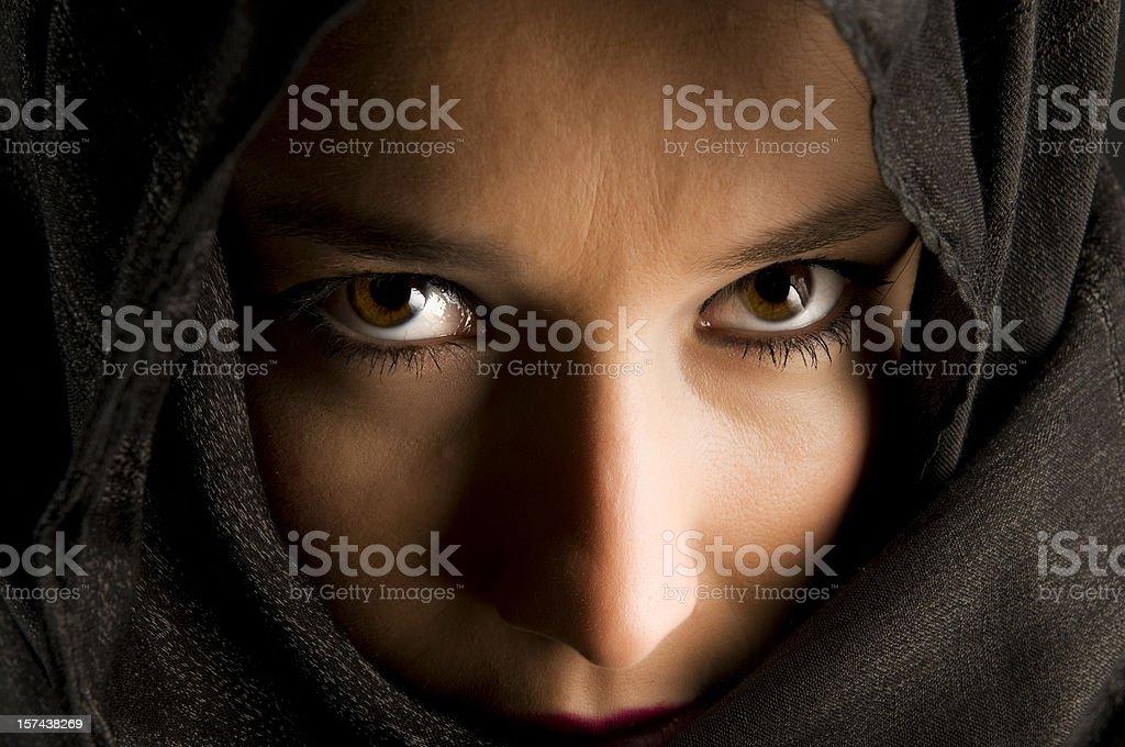 Mysterious Eyes stock photo