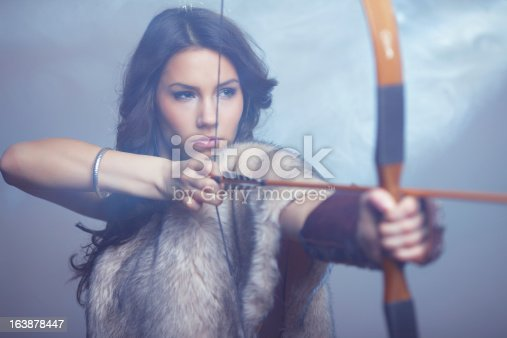 istock Mysterious Female Archer 163878447