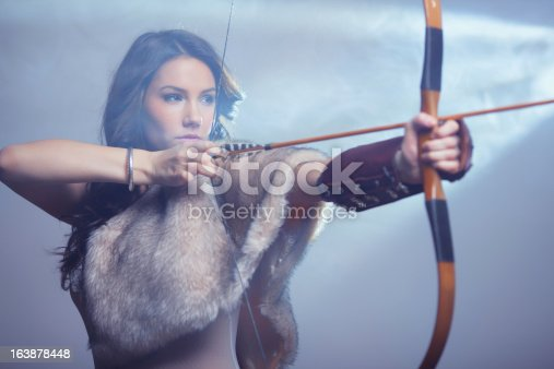 istock Mysterious Female Archer 163878448