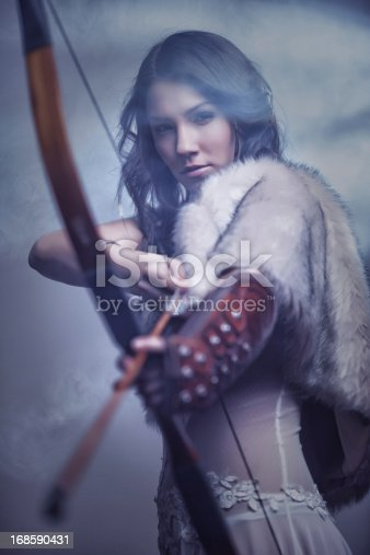 istock Mysterious Female Archer 168590431
