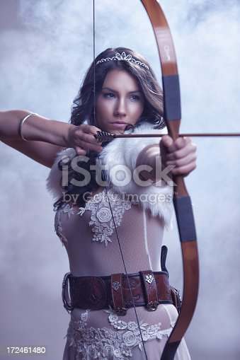 istock Mysterious Female Archer 172461480