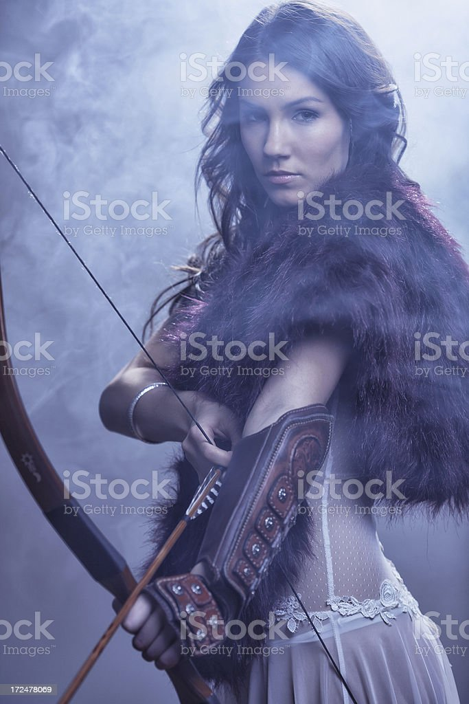 Mysterious Female Archer stock photo