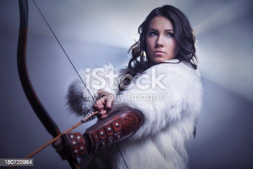 istock Mysterious Female Archer 180720984