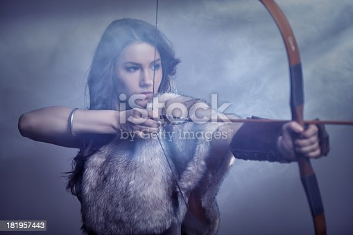 istock Mysterious Female Archer 181957443