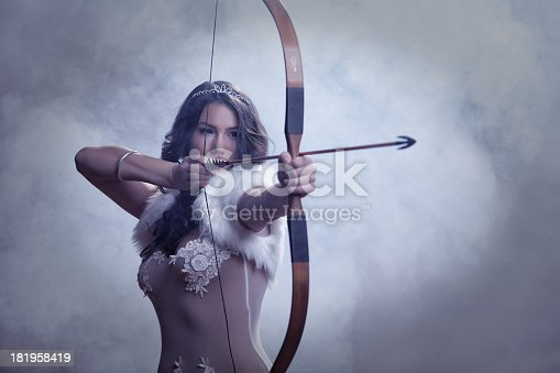 istock Mysterious Female Archer 181958419