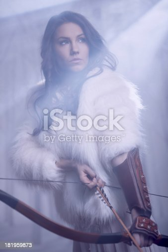 istock Mysterious Female Archer 181959873