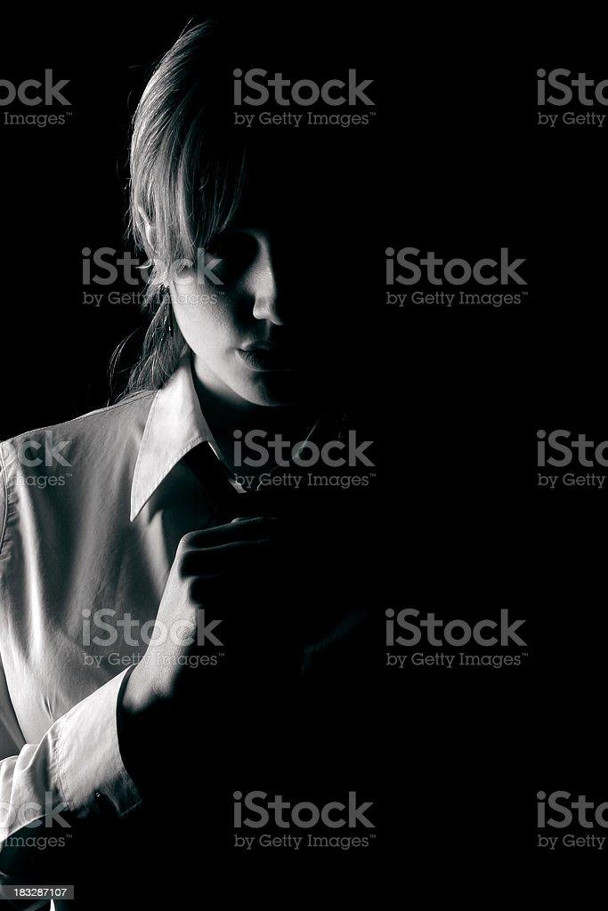 Mysterious girl stock photo