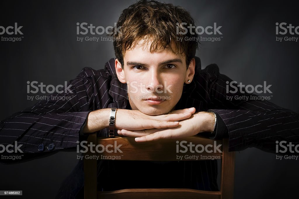 Mysterious handsome man royalty-free stock photo